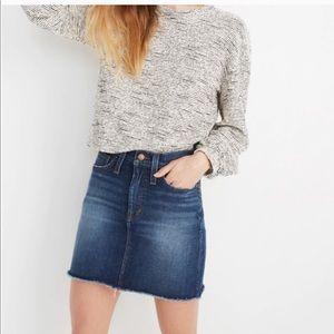 NWT Sz 32 madewell stretch denim skirt